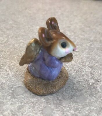 WEE FOREST FOLK Annette Petersen 1987 Christmas nativity scene Angel