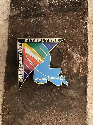 Crescent City New Orleans, LA Kite Flyers pin - from annual kite event - NEW