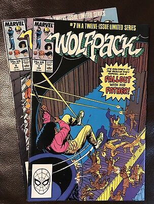 Wolfpack lot of 2 Marvel comics volume 1 issues #7 & #9 1989