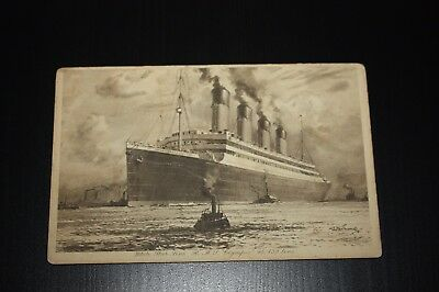 White Star Line RMS Olympic Vintage Postcard 46,439 Tons