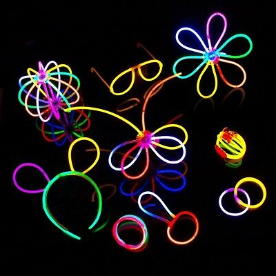 """8"""" Glow Sticks 475 Pcs W/ 275Connectors for Glow Party Favors Halloween New Year"""