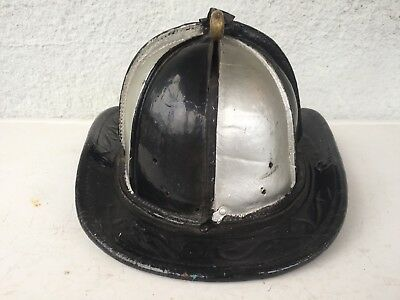Vintage Leather Fire Helmet Pre 1947 Nyack New York Rockland Cairns Antique