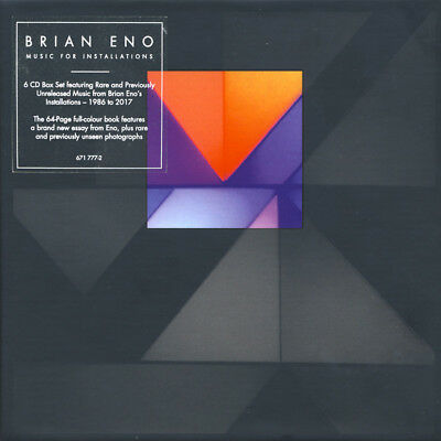 BRIAN ENO - MUSIC FOR INSTALLATIONS NEW 6CD Box set Ambient 2018 Opal Records
