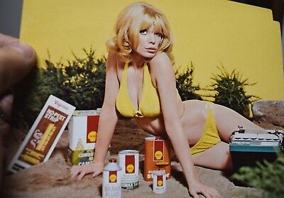 vintage risque pin-up SHELL CANADA advertising package gas oil