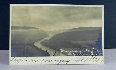 Berkeley Springs, WV - RPPC - Potomac Valley and Capapon Mt.