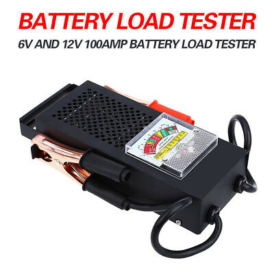 Stainless vehicle Battery Tester 100 Amp Load Type for 6/12V Car Truck Replace