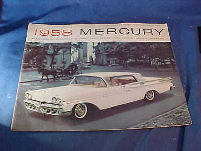 Orig 1958 MERCURY Dealers ADVERTISING BOOKLET-Park Lane-Monterey-Montclair