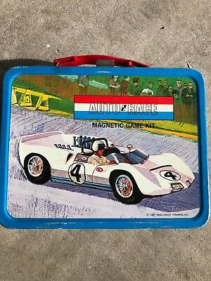 1967 king-seeley Auto Race lunchbox. Rare with cars