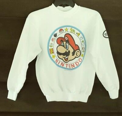 Vintage Nintendo Super Mario Bros. Clothing boys Large sweatshirt 1989