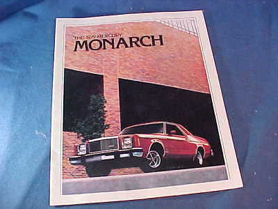 Orig 1979 MERCURY MONARCH Dealers ADVERTISING BOOKLET