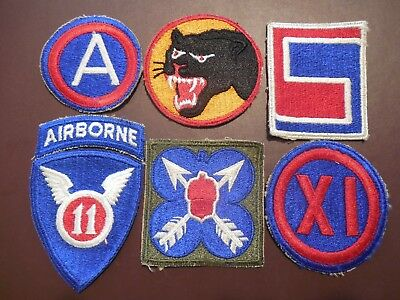 WWII US Army Air Corp Patches Infantry Armor Airborne Lot Military Rare CP399