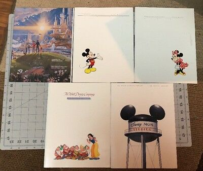 Lot Of 5 Walt Disney Company Annual Reports 1983-1986, 1988 Vintage