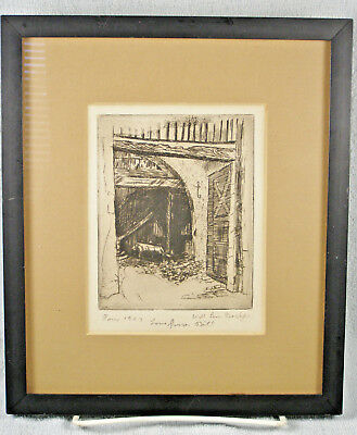 Vintage Etching by Will Low Bacher (1898- 1982) - PARIS 1923
