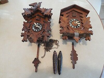 Two Vintage Cuckoos For Parts or Repair
