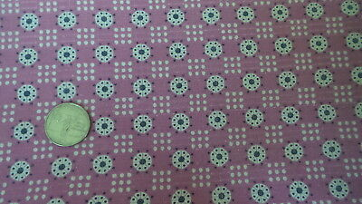 Vintage Feedsack Feed Sack Fabric MEDALLION DOTS & NINE-POLKA DOTS ON MAGENTA