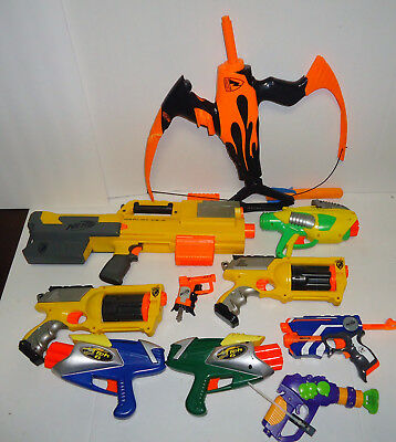 Lot of 9 PCS  Nerf Guns  and BOW Bundle