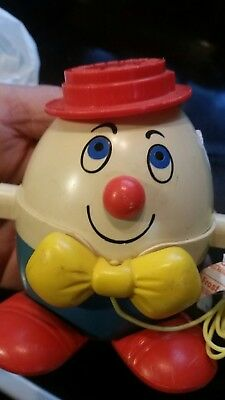 Vintage Fisher Price Humpty Dumpty 736 Pull Toy fresh find from estate toy sale