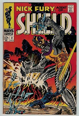 Nick Fury Agent of Shield 2 Steranko art & cover Marvel Silver Age 1968 FN+