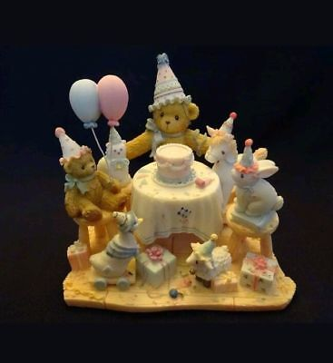 "M95NIB Cherished Teddies ""AGGIE""  Birthday Celebration 2002 Adoption Center 1040"