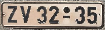 Germany (East) 1980s German (Cottbus) license plate ZV 32-35