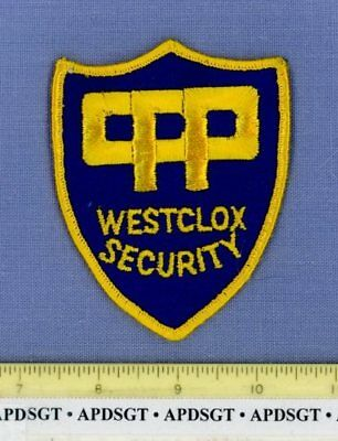 WESTCLOX COMPANY SECURITY • PERU ILLINOIS Company Police Patch CLOCK WATCHES OLD