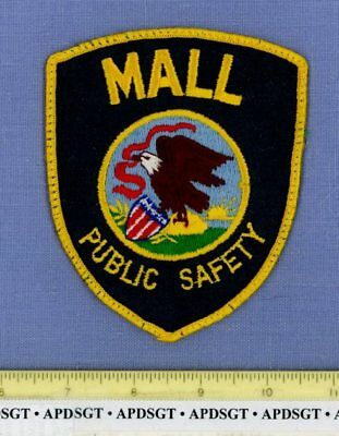 MALL PUBLIC SAFETY (Old Vintage) ILLINOIS Sheriff Police Patch STATE SEAL