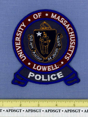 UNIVERSITY OF MASSACHUSETTS • LOWELL Sheriff College School Campus Police Patch