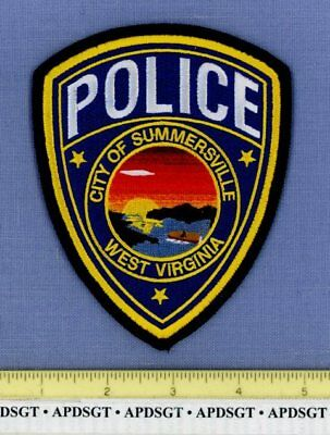 SUMMERSVILLE WEST VIRGINIA Sheriff Police Patch BRILLIANT SUNSET