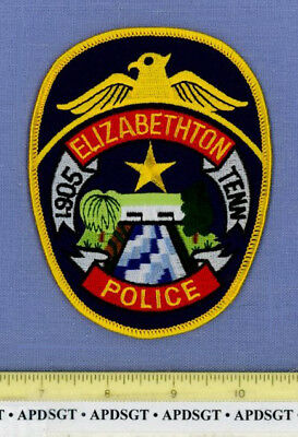 ELIZABETHTON TENNESSEE Sheriff Police Patch OLD COVERED BRIDGE RIVER