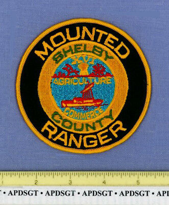 SHELBY COUNTY MOUNTED RANGER TENNESSEE Police Patch HORSE POSSE AUXILIARY