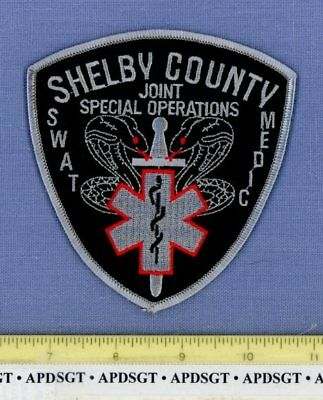 SHELBY COUNTY SWAT MEDIC JOINT SPECIAL OPERATIONS TENNESSEE Police Patch EMS