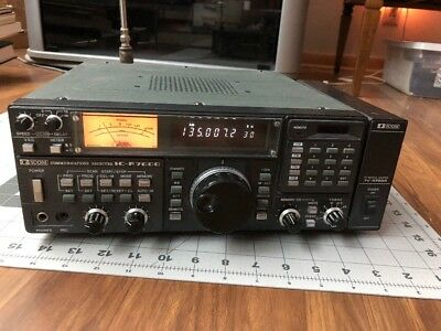 ICOM IC-R7000 COMMUNICATIONS RECEIVER Turns On Lights Up Sound Works