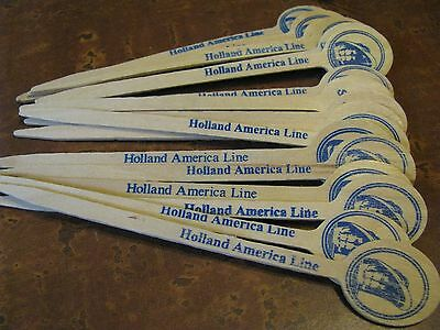 17 Holland America Line Cruise Ship Wood Wooden Food Sandwich Party Picks Lot