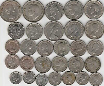 """29 different world """"SILVER"""" coins from GREAT BRITAIN"""