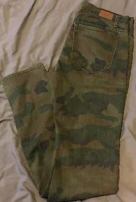 Urban Oufitters Bdg Jeans Camouflage Size 27 Slim Skinny Stretch New With Tags