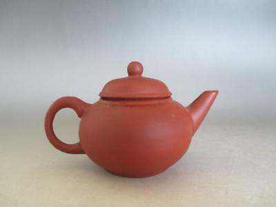 Chinese Pottery Vermillion clay teapot/ nice back-handle style/ 7734
