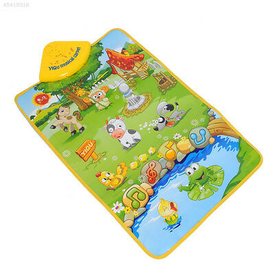 89FC HOT Musical Singing Farm Kid Child Playing Play Mat Carpet Playmat Touch