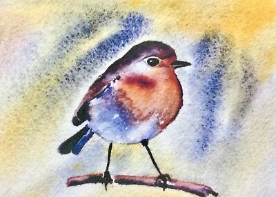 ACEO Limited Edition Print by artist Bill Lupton - Robin