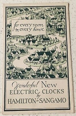 wonderful New Electric Clocks By Hamilton-Sangamo. Circa 1930s