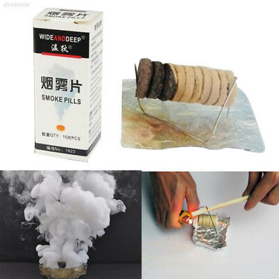 8B48 10Pcs/1Box Smoke Effect Show Cake White Round Bomb Photography Aid Toy