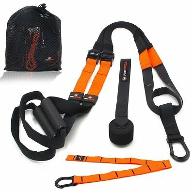 Suspension Training Band Fitness Strap Strength Workout Crossfit MMA,Basic Kit