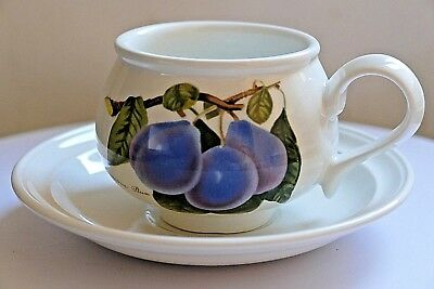 PORTMEIRION POMONA ~ TEA CUP & SAUCER ~ Imperatrice Plum Pattern.