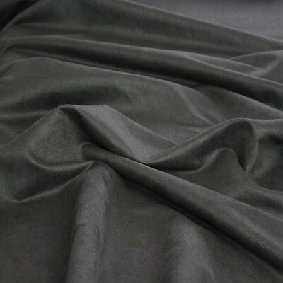 Charcoal Gray Suede Ultra Durable Suede Microsuede Fabric by the Yard