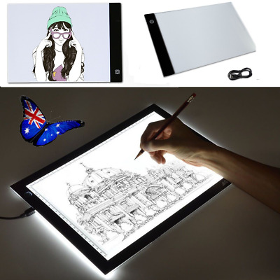 A4 LED Tracing Light Box Board Adjustable Brightness Drawing Pad Stencil Display