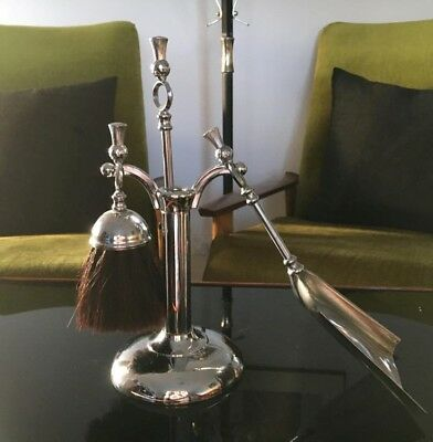 Vintage Sliver Plated IANTHE Fireside Set. Made in England