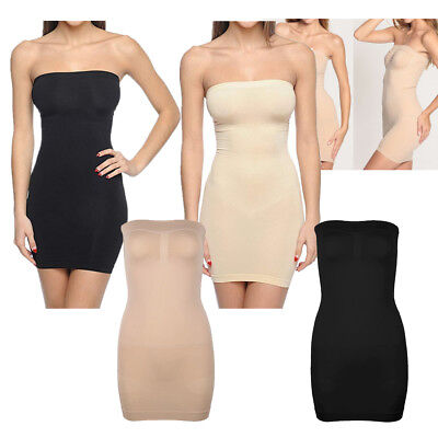 f784530fdc Women Shapewear Full Slip Dress Strapless Tummy Control Body Shaper Tube  Plus Sz