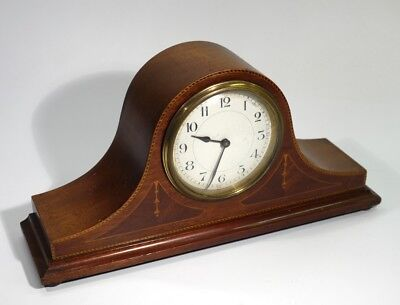 A Good Antique Edwardian Inlaid Mahogany Mantel Clock with French Movement.