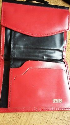 Vintage Leather Purse Wallet Red