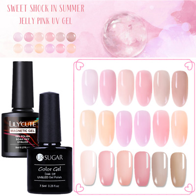 Jelly  UV Gel Nail Polish Soak Off Semi-transparent Gel  Decoration