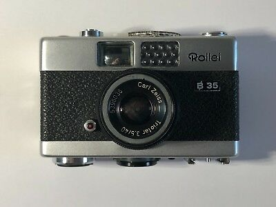 Rollei B35 Zone Focus Film Camera [Working See Description]